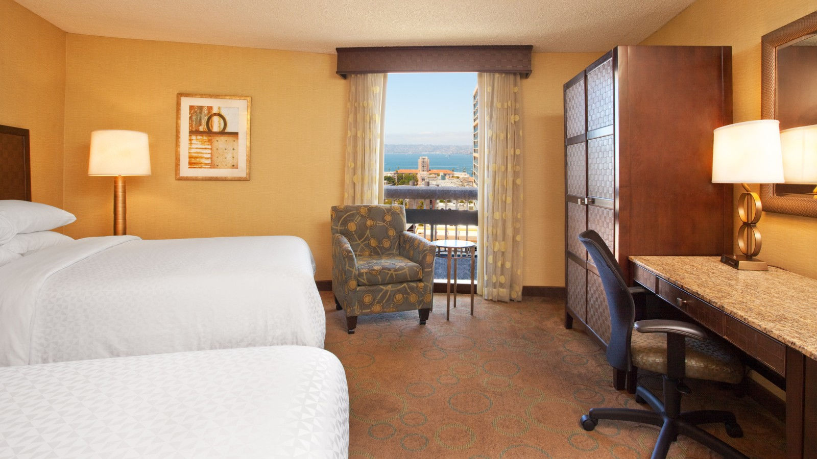 Double Queen Room - Bay View | Four Points San Diego Downtown